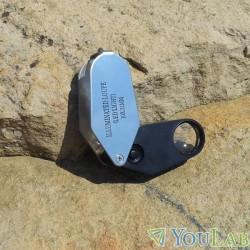 Loupe de géologue lumineuse 10X